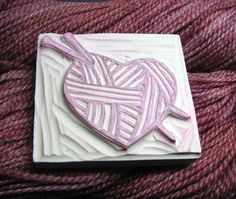#stamp #rubber #knit #yarn