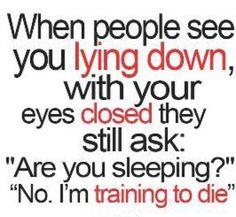 training, die, humor