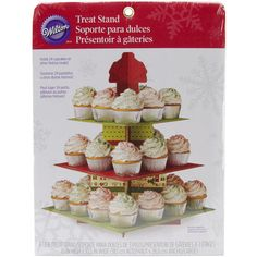 Presentation is key when displaying homemade Christmas treats. This Square Treat Stand will make a welcome sight for anyone home for the holidays.