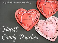 Heart Candy Pouches by Organize & Decorate Everything