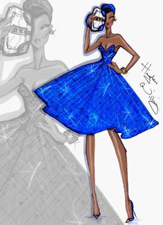 Hayden Williams Fashion Illustrations | 'Cobalt Cool' by Hayden Williams