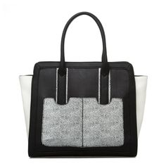 Colorblock Black & Grey tote - love this for the fall