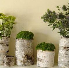wood bark decoration ideas vases 6