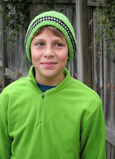 Free Crochet Boy Hat Pattern. Trying this one in Camo for Will.