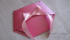Handmade Metallic Pink Diaper Baby Shower Invitation, via Etsy.