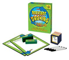 a game that works well with receptive language and auditory processing, as well as sequencing and organizing language: Backseat Drawing by Out of the Box Games.