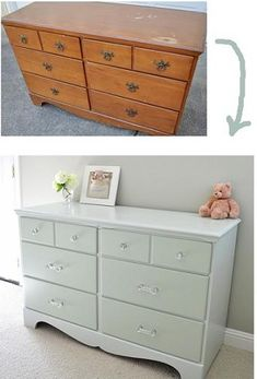 dresser makeovers, paint furniture, painting furniture, old dressers, dresser redo, paint project, furniture projects, painting projects, diy projects