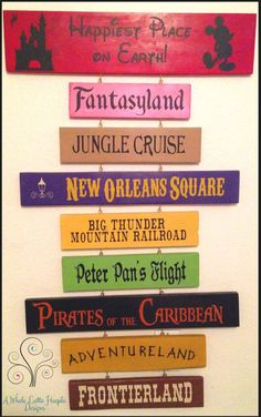 Disney Favorites Custom Wooden Sign by AWholeLottaHoopla