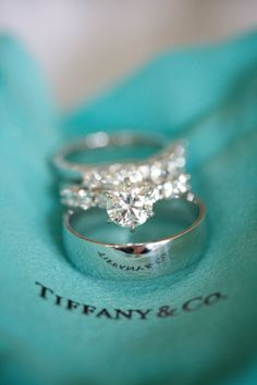 Tiffany Diamond ring and wedding band