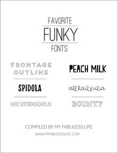 Favorite Funky Fonts
