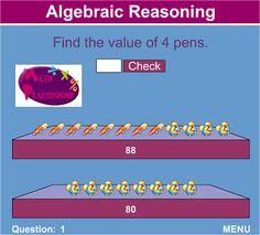 Algebraic Thinking day math routine: Links to the best algebraic games on math playground