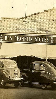 Check out this Ben Franklin Store circa 1940. Old school!