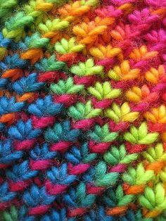 Free Knitting Pattern - Scarves: Star Stitch