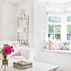 Wohnzimmer mit Fensterplatz Wohnideen Living Ideas Interiors Decoration