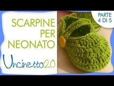 Tutorial uncinetto - Scarpine per neonato - 4 di 5 - YouTube