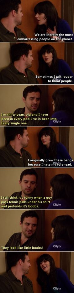 Jess & Nick just being Jess & Nick nick and jess new girl, laugh, newgirl, funni, new girl quotes, movi, new girl nick and jess, new girl funny, thing