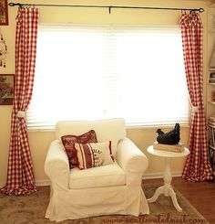 Red Buffalo Check Living Room Curtains!