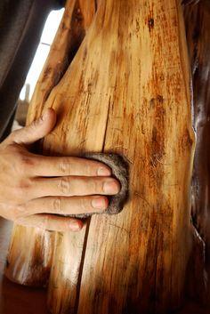 How to make tree stump furniture