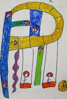 alphabet playgrounds sharpie and oil pastels in primary colors...lead up to secondary with this. Briargrove Elementary Art Page: Kindergarten
