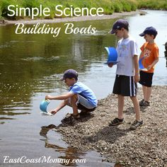 Simple Boat Science Experiment... testing buoyancy.