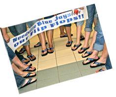 flip flop, blue jay