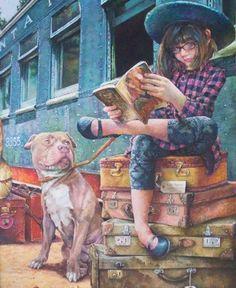 Travel, always with books (Susan Brabeau)
