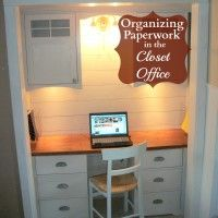 Organizing My Closet Office - Bills and Paper Work financi peac, organ idea, paper work, offic space, closet office
