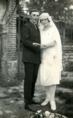 Bride and groom, 1927