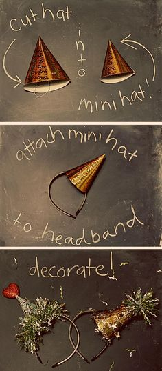 DIY Mini Birthday Party Hat Fascinator. Would be cute for New Year's Eve!