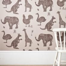 vintage inspired wallpaper animals