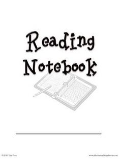 Reading Notebook pages for students...