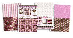 Free patterned papers for Valentine's Day! Print them out and make a card for your sweetie.