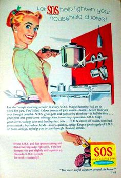 A vintage housewife lightens her load with SOS.
