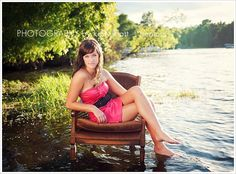 Because sitting in a chair, in a semi formal dress, in the lake is so natural.<< just for that comment