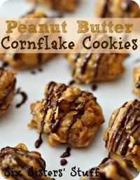 Peanut Butter Corn flake Cookies on MyRecipeMagic.com are so delicious and quick to make! Perfect after school snack! #cookies #cornflake #peanutbutter