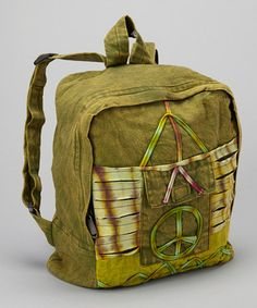 Take a look at this Peace Backpack by Karma Circle on #zulily today!