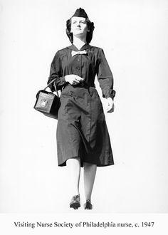 Visiting Nurse Society of Philadelphia nurse, c.1947. Image courtesy of the Barbara Bates Center for the Study of the History of Nursing.