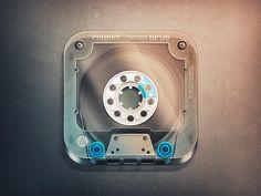 Cassette App Icon by Fabricio Rosa Marques