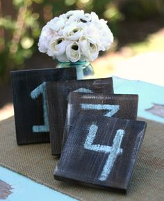 Rustic Table Numbers Distressed Wedding Decor Barn by braggingbags, $4.00