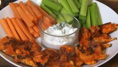 Buffalo Cauliflower Bites with Blue Cheese Dip