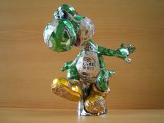 yoshi, craft, beer, recycled cans, drink, can art, art sculptures, aluminum cans, soda