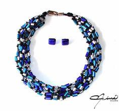 Blue Tones - Tonos de Azul |María Eva Ramos - Niná Studio Silver leaf and alcohol inks, #Design Venezuela,  #Design Venezuela #polymerclay, #handmade, #Diseño Venezolano, #hecho a mano, #arcilla polimérica