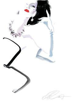 V | David Downton  #fashion #Illustration