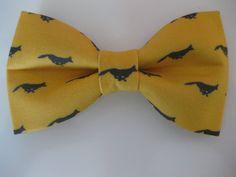 Mustard Yellow Fox Bow Tie by DashingFox on Etsy, $17.00