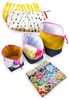 DIY pouch sewing tutorials.