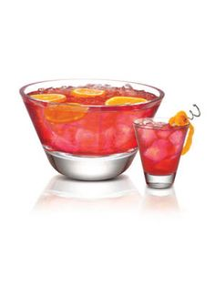 X-Rated Punch X-Rated Fusion Liqueur, SKYY Vodka, Orange Juice, Pineapple Juice, and Grenadine.