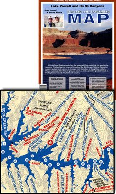 Boating and Exploring Map and Guide to the Glen Canyon National Recreation Area