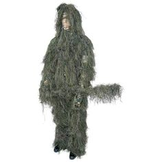 Ghillie Suit Sz M & L Camouflage Complete 4 Pc. Hood Rifle Wrap Pants & Jacket