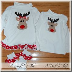 Reindeer Christmas Shirts {A Sprinkle of This . . . . A Dash of That}