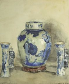 Walter Gay Blue and White Porcelain Late 19th - early 20th century